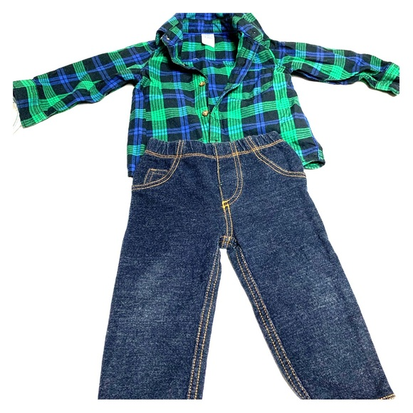 Carter's Other - Carters 12m plaid outfit